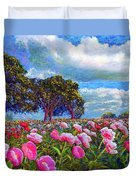 Peony Heaven Duvet Cover by Jane Small