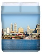Peoria Skyline And Downtown City Buildings Duvet Cover by Paul Velgos