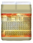 Periodic Table Of The Elements Duvet Cover by Georgia Fowler