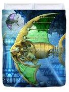 Pescatus Mechanicus Duvet Cover by Ciro Marchetti