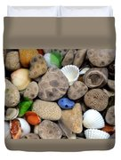 Petoskey Stones Lll Duvet Cover by Michelle Calkins