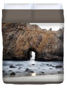 Pfeiffer Beach Arch Duvet Cover by Jenna Szerlag