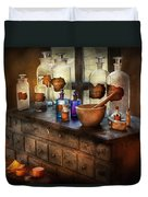 Pharmacist - Medicinal Equipment  Duvet Cover by Mike Savad