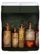Pharmacy - Daily Remedies  Duvet Cover by Mike Savad