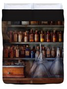 Pharmacy - Master Of Many Trades  Duvet Cover by Mike Savad