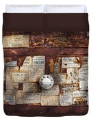 Pharmacy - Signs Of The Time  Duvet Cover by Mike Savad