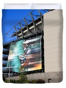 Philadelphia Eagles - Lincoln Financial Field Duvet Cover by Frank Romeo