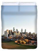 Philadelphia from South Street Duvet Cover by Bill Cannon