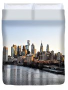 Philadelphia In The Morning Light Duvet Cover by Bill Cannon
