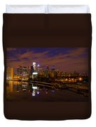 Philadelphia On The Schuylkill At Night Duvet Cover by Bill Cannon