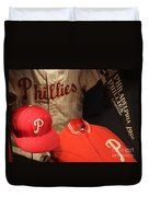 Philadelphia Phillies Duvet Cover by David Rucker