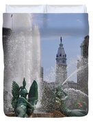Philly Fountain Duvet Cover by Bill Cannon