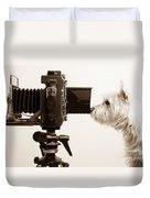 Pho Dog Grapher Duvet Cover by Edward Fielding