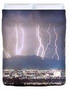 Phoenix Arizona City Lightning and Lights Duvet Cover by James BO  Insogna