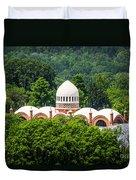 Photo Of Elephant House At Cincinnati Zoo Duvet Cover by Paul Velgos