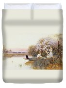 Picking Blossoms Duvet Cover by Thomas James Lloyd