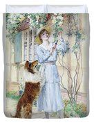 Picking Roses Duvet Cover by William Henry Margetson