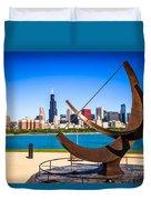 Picture Of Chicago Adler Planetarium Sundial Duvet Cover by Paul Velgos
