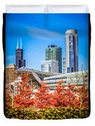 Picture Of Chicago In Autumn Duvet Cover by Paul Velgos