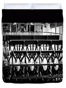 Picture Of Natchez Steamboat Paddle Wheel In New Orleans Duvet Cover by Paul Velgos