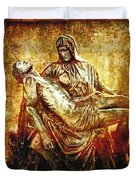 Pieta Via Dolorosa 13 Duvet Cover by Lianne Schneider