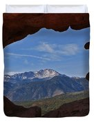 Pikes Peak 2 2012 Duvet Cover by Ernie Echols