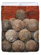 Pile Of Cannon At San Francisco Fort Point 5d21493 Duvet Cover by Wingsdomain Art and Photography