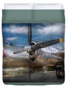 Pilot - Plane - The B-29 Superfortress Duvet Cover by Mike Savad