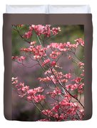 Pink And Purple Spring Trees Duvet Cover by Carol Groenen