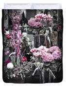 Pink Flower Arrangements Duvet Cover by Elena Elisseeva