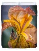 Pink Iris Duvet Cover by Eduard Moldoveanu