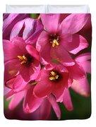 Pink Ixia Duvet Cover by Joy Watson