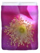 Pink Ocean Wildflower Duvet Cover by Neal  Eslinger