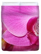 Pink Orchids Duvet Cover by Sabrina L Ryan