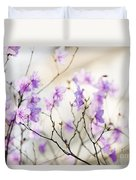 Pink Rhododendron In Spring Duvet Cover by Elena Elisseeva