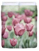 Pink Tulip Field Duvet Cover by Frank Tschakert