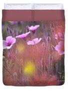 Pink Wild Geranium Duvet Cover by Heiko Koehrer-Wagner