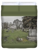Pioneer Resting Place Duvet Cover by Jean Noren
