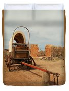 Pionner Wagon Duvet Cover by Jeff Swan
