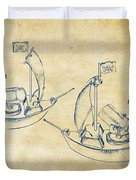 Pirate Ship Patent Artwork - Vintage Duvet Cover by Nikki Marie Smith