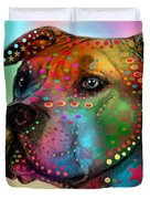 Pit Bull Duvet Cover by Mark Ashkenazi