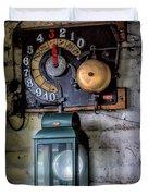 Pit Lift Control Duvet Cover by Adrian Evans