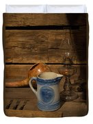 Pitcher Cup And Lamp Duvet Cover by Douglas Barnett