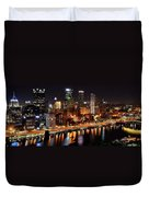 Pittsburgh Panorama Duvet Cover by Frozen in Time Fine Art Photography