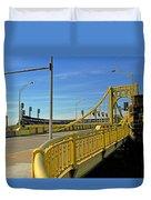 Pittsburgh - Roberto Clemente Bridge Duvet Cover by Frank Romeo