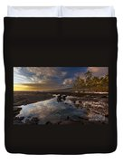 Place Of Refuge Sunset Reflection Duvet Cover by Mike Reid