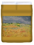 Plain At Auvers Duvet Cover by Vincent Van Gogh