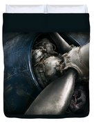 Plane - Pilot - Prop - You Are Clear To Go Duvet Cover by Mike Savad