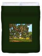 Plantation Oil Duvet Cover by Steve Harrington