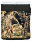 Plate 100 From Jerusalem Duvet Cover by William Blake
